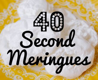 How To Make Meringues In 40 Seconds - Crumbs