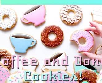 COFFEE AND DONUTS! Cookie Decorating Tutorial