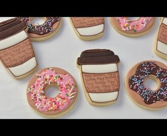COFFEE CUP AND DONUT COOKIES, HANIELA'S