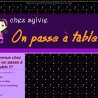 Bienvenue chez Sylvie on passe à table !!!