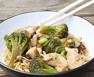 Oriental Chicken and Cashew Nut Stir Fry Recipe