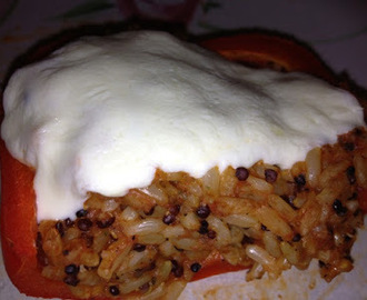 Quinoa and Brown Rice Stuffed Pepper Recipe