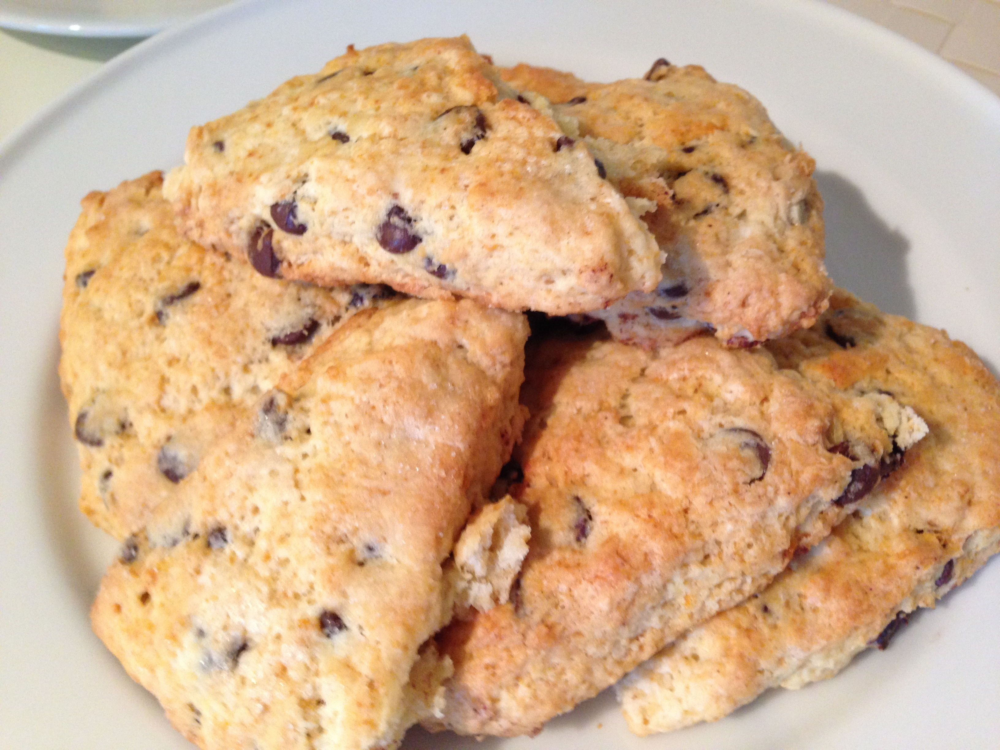 SPEEDY CHOCOLATE CHIP COCONUT ORANGE SCONES