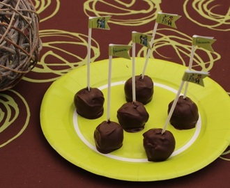 Cake pops (madeleines/nutella) Shrek au thermomix ou sans - Sweet Table Shrek