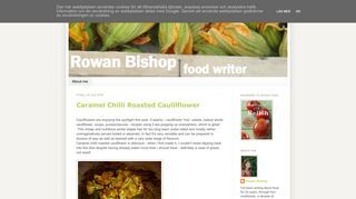 Rowan Bishop food writer