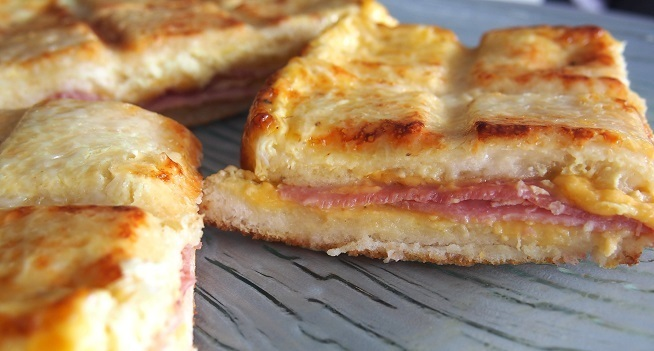 Croque tablette jambon cheddar