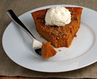 Crustless Sweet Potato Pie and #GIVEAWAY