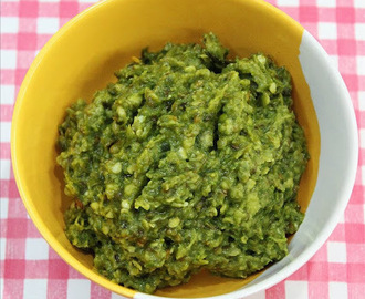 green chilli chutney recipe - how to make green chilli chutney