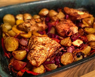 Recipe:-  Slimming World Friendly Easy Peasy Chicken Bake