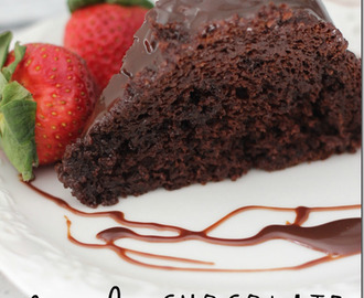 Triple Chocolate Bundt Cake with Chocolate Ganache Glaze