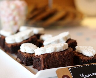 Brownies aux pépites de chocolat et guimauves {Sweet Table}