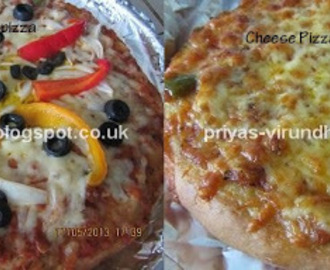Simple Vegetable Pizza And Cheese pizza from the scratch…