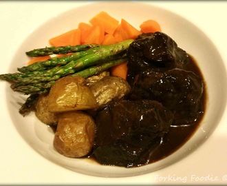 Braised Ox Cheeks in a Rich Red Wine Sauce (includes Instant Pot Pressure Cooker method)