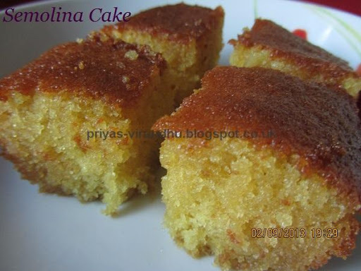 Honey Drizzled Semolina Cake/Basbousa