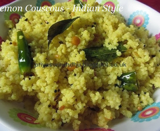 Lemon Couscous – Indian Style