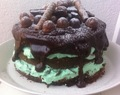 Minttusuklaa naked cake / Mint chocolate naked cake