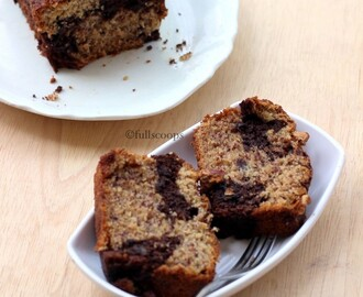 Chocolate Banana Marble Cake/Loaf