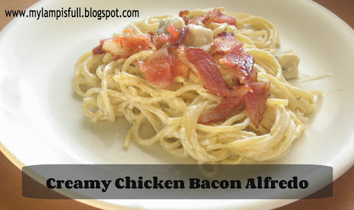 Recipe for Chicken Bacon Alfredo