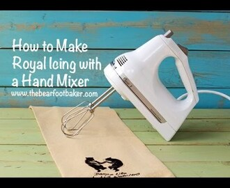 How to Make Royal Icing with a Hand Mixer via www thebearfootbaker com