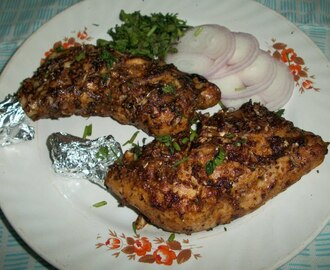Grilled Chicken / Oven Roasted Chicken Legs with a Twist – Indian Style