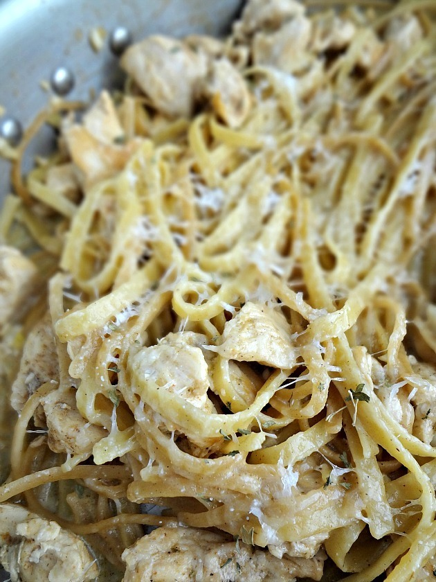 One Pot Cajun Chicken Alfredo