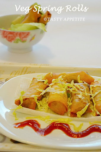 VEGETABLE SPRING ROLLS / HOW TO MAKE CRISPY VEGETABLE SPRING ROLLS ? / STEPWISE RECIPE