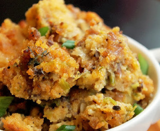 Creole Cornbread Stuffing with Andouille Sausage and a Crock-Pot Slow Cooker Giveaway!