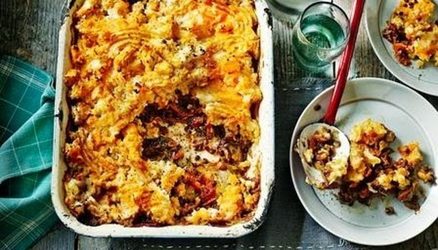 Vegetarian Shepherds Pie with Sweet Potato Mash