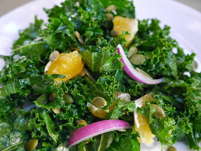 Raw Kale And Orange Salad With Pumpkin Seeds  Balance Your Winter Diet With Raw Food