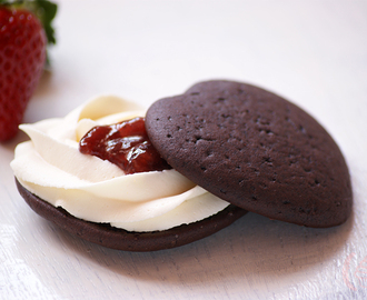 Whoopie Pies de chocolate y mascarpone