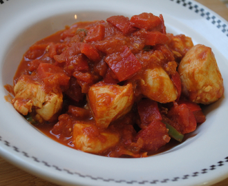 Simple Chicken Jalfrezi student recipe
