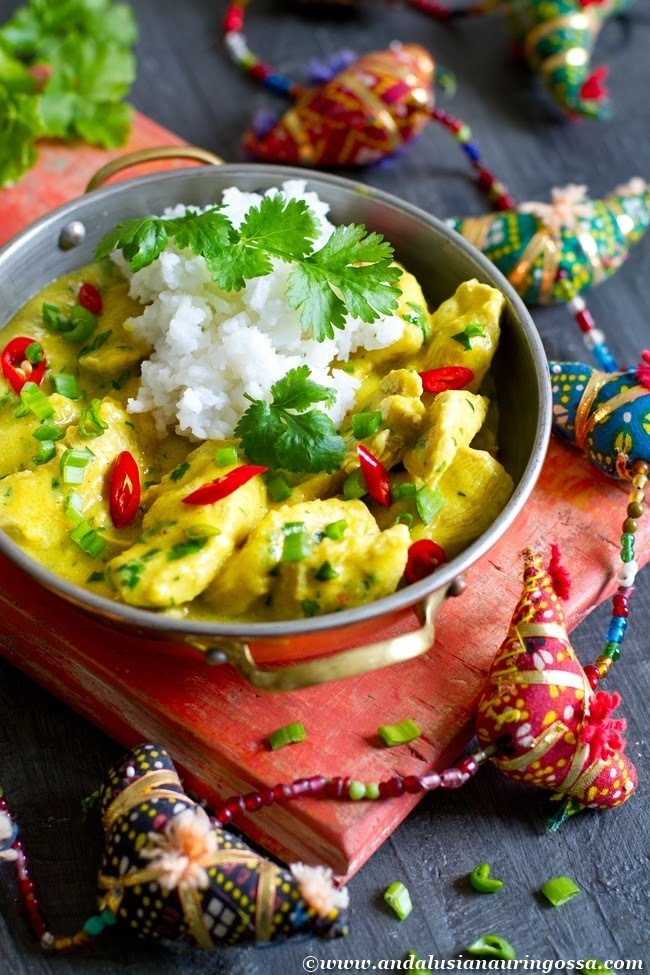 Mango, chilli, ginger and coconut chicken - flu be gone!