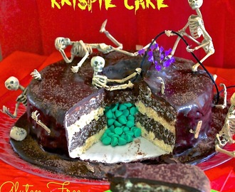 "Gluten Free ""Death By Chocolate"" Surprise Rice Krispie Cake"