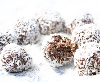 Healthy chocolate coffee balls
