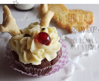 Rudolph, the Red-Nosed Reindeer- Cupcakes mit Stevia