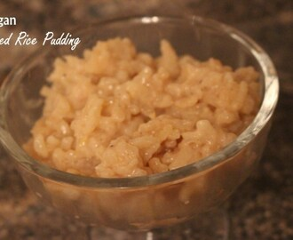 Vegan Spiced Rice Pudding