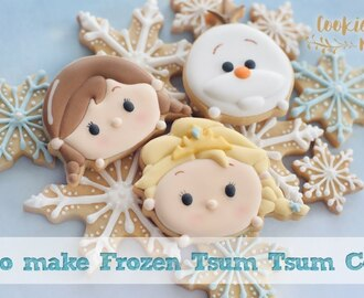 ADORABLE FROZEN TSUM TSUM COOKIES SET - How to make Elsa, Anna & Olaf!