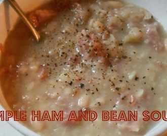 (Crockpot) Simple Ham and Bean Soup
