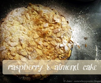 raspberry and almond cake (aka Bakewell Tart)