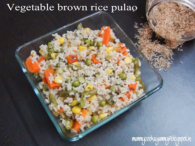 Vegetable Brown Rice Pulao / How to make Brown rice pulao  / How to make healthy vegetable brown rice