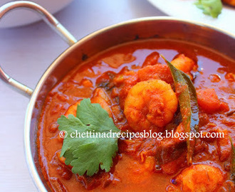 Eral Kuzhambu / Chettinad Prawn Tamarind Curry