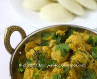 Soya chunks curry - Meal maker kurma