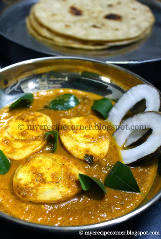 Quick Egg Curry for Chapathi / Muttai Kurma