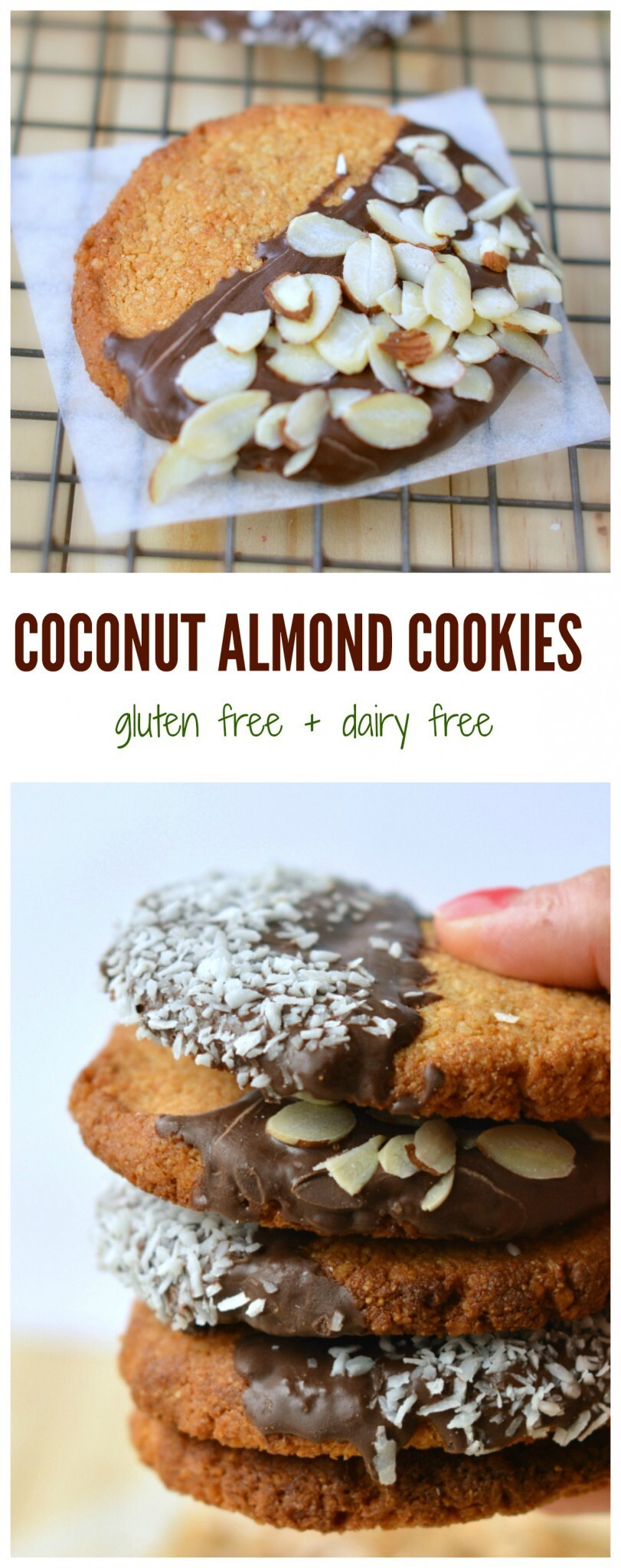 Coconut Almond Cookies | Gluten free + Grain free + Vegan