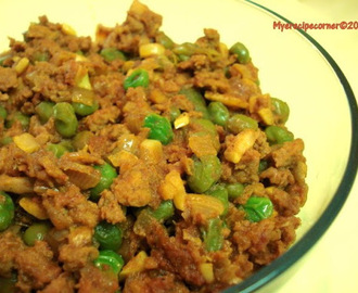 Mutter Kheema/ Peas and Minced Meat Fry