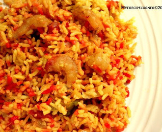 Prawn Pulao(Shrimp in Indian Spiced Rice)