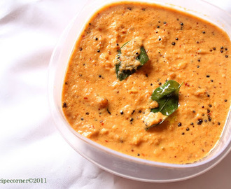 Red Coconut Chutney( Hotel/ Restaurant Style Red Chutney)