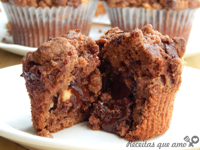 Muffin de chocolate recheado