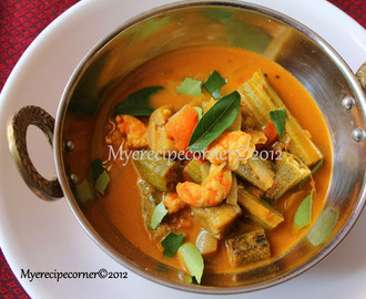 Chettinad Prawn and Vegetable Curry/ Eral Kulambu