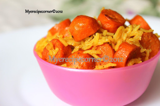 Chicken Sausage Indian Recipes - Masala Rice